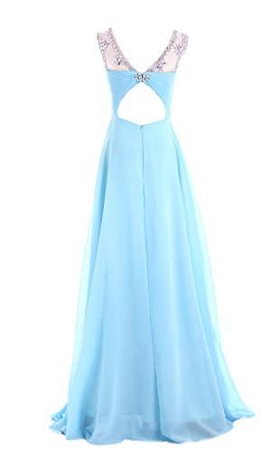 Ball Edelsteinbesetztes blue Abend dress49 Aque Chiffon Line missydress 'bridesmaid A Damen fn0q7vwt