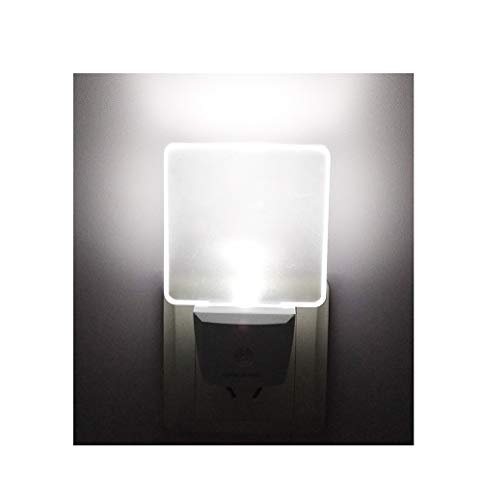 2 Pack 0.5W Plug in LED Night Light with Dusk to Dawn Sensor Daylight Cool White