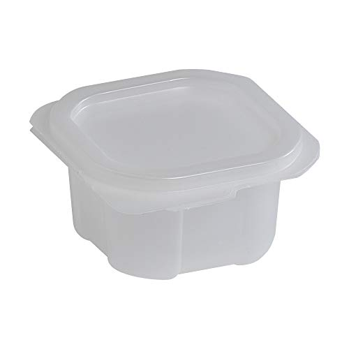 Liddles Portion Cups with Attached Lids Translucent Cups Translucent Lids, 2 Ounce - 900 per case.