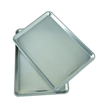 Nordicware Natural Aluminum Commercial Baker's Half Sheet (2 Pack), Silver