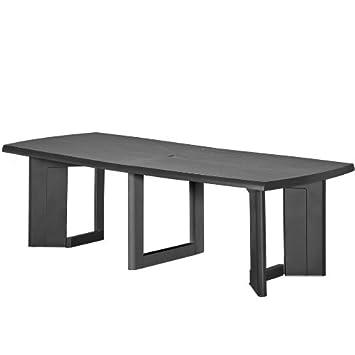 Allibert New York Gris Graphite extensible Table à manger: Amazon ...