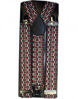 Outer Rebel Fashion Suspenders Brown Leopard