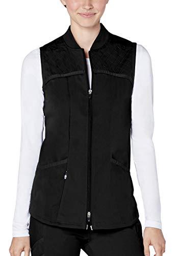 Adar Responsive Scrubs for Women - Active Scrub Bomber Vest - R6200 - Black - S