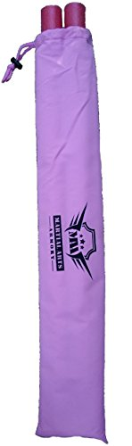 Martial Arts Armory Foam Padded Training Escrima Sticks with Case - Pair (Pink)