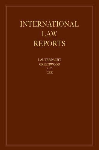 International Law Reports (Volume 151)