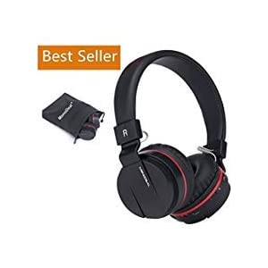 Active Noise Cancelling Bluetooth Headphones with Mic, Monodeal Hi-Fi Stereo Headset with Soft Memory-Protein Earmuffs…