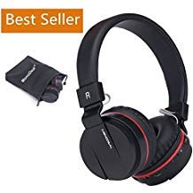 Active Noise Cancelling Wired/Wireless Bluetooth Headphones with Mic,Monodeal Foldable on The Ear Headset,Soft Memory-Protein Earmuffs,Hi-Fi Stereo Headset for PC/Cell Phones/TV