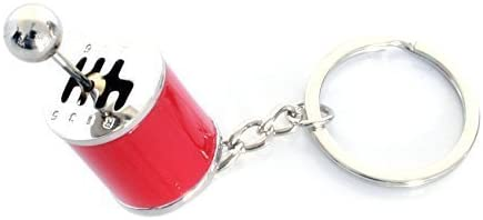 6 Gangschaltung Schlüsselanhänger Zum Schalten Massiv Dub Rot Auto