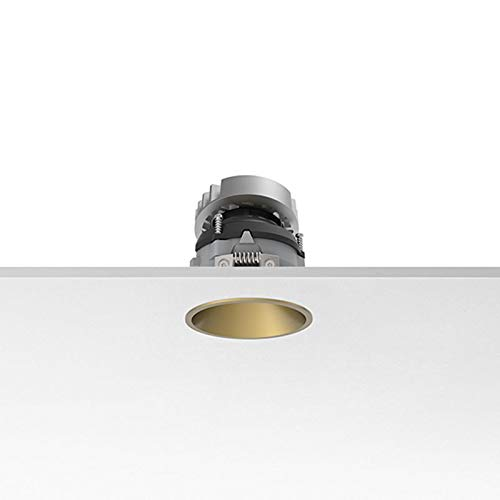 Flos Easy Kap 80 Adjustable Round LED 9W 2700K 577 lm Recessed Spotlight - Gold, 19° Spot B07TC39JRN