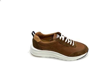 Rouge à lèvres Sneakers marron en cuir vieilli et chamois