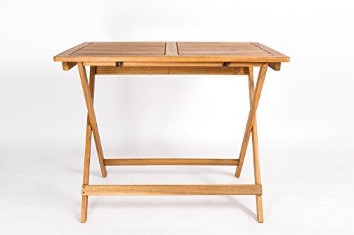 SAM Table de jardin Blossom, bois d\'acacia, 80 x 60 cm ...