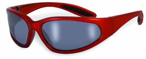 RG M 95201 Unisex Safety Glasses with Orange Frames and Silver Mirror Shatterproof Lenses ()
