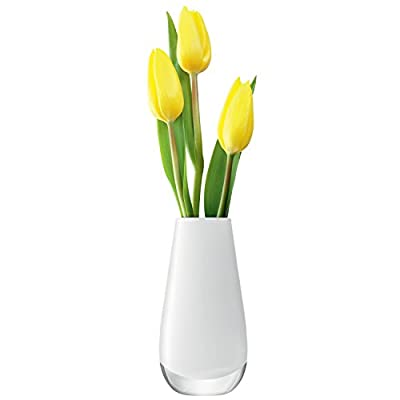 """LSA International Flower Color Bud Vase, H5.5"""", White - Designed by Monika Lubkowska-Jonas Handcrafted vases are made out of richly coloured glass Classic collection of handmade vases - vases, kitchen-dining-room-decor, kitchen-dining-room - 31p6xZxBqeL. SS400  -"""