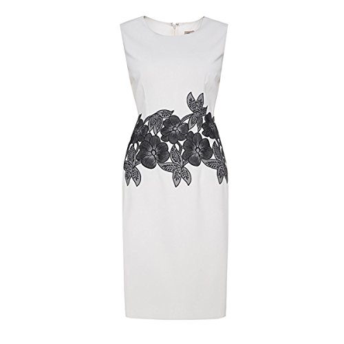 China Palaeowind China Palaeowind Female Spring And Summer Embroidery Slim Dress White Dress,White-L by China palaeowind