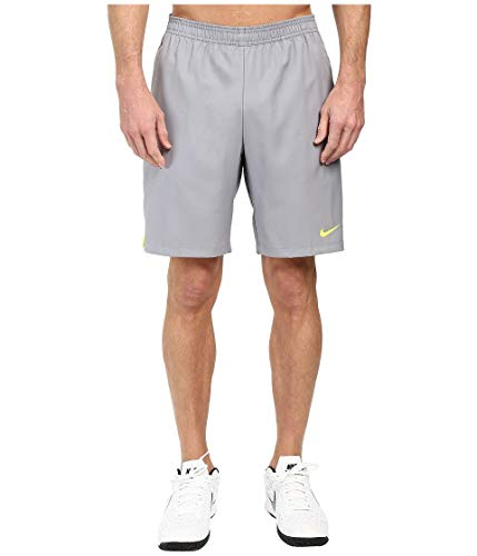 Nike Men's Court 9'' Short, Stealth Volt, Small by Nike (Image #4)