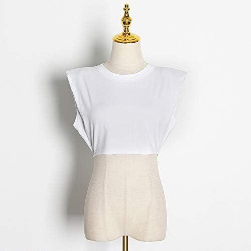 Weili Las Mujeres de algodón Camiseta Blanca con Las Tapas sólidas perdón Mangas Verano Negro o-Cuello de Las Mujeres de 2020 señoras de la Calle Ocasional de la Camiseta,HFB3288 Blanca,L: Amazon.es: Hogar