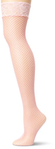 Leg Avenue Women's Fishnet Stockings  with Stay Up Lace Top #9201