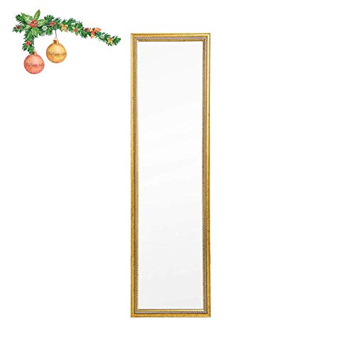 Beauty4U Door Mirror/Wall Mirror Float Tile Gold Dressing Mirror for Home Decoration (Tall Slim Mirror Wall)