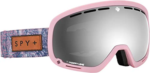 Spy Optic Marshall Snow Goggles | Ski, Snowboard or Snowmobile Goggle | Two Lenses with Patented Happy Lens Tech (Native Nature Pink-Happy Gray Green w/Silver Spectra+Happy Yellow w/Lucid Green) (Bag Snowboard Pink)
