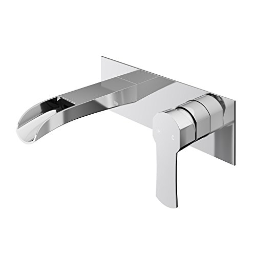 VIGO VG05004 Cornelius Solid Brass Wall Mounted Bathroom Sink Faucet, Sinlge Handle Bathroom Faucets, For Use with Vessel or Basin Sinks, Premium 7-Layer Chrome Finish ()