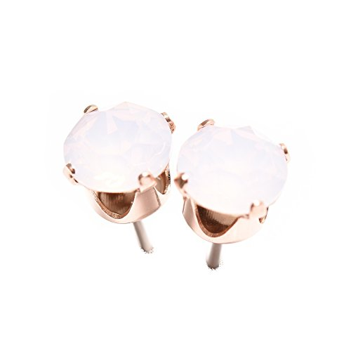 Pewterhooter 18ct Rose Gold On 925 Sterling Silver Stud