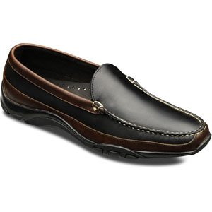 Allen Edmonds Men's Boulder Venetian Driving Moccasin 9.5 B(N) Men 71801 Black With Brown Trim Loafers Shoes