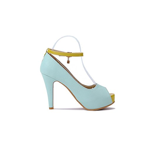 Adee Ladies Metalornament high-heels Poliuretano Sandalias Azul - azul
