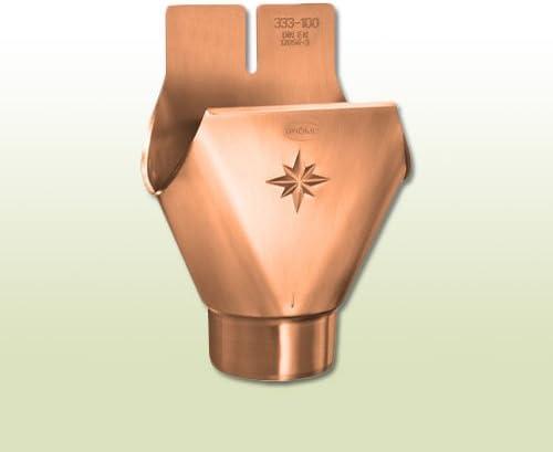 Kupfer Einhangstutzen oval RG 250 f/ür Fallrohr DN 76