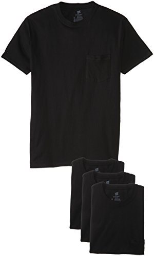 "Hanes ComfortSoft 4-Pack t-shirts (Large 42-44"", Black)"