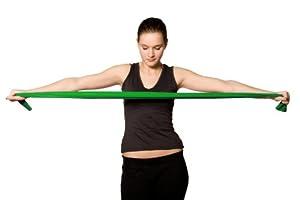 Kintex® Fitnessband Gymnastikband Latexband 2,5m x 15cm Grün (stark - 0,25mm)