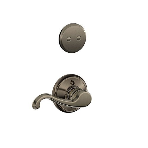 Schlage F94 Callington Left Hand Dummy Interior Trim Antique Nickel Finish - Left Hand Callington Lever