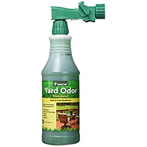 NaturVet – Yard Odor Eliminator – Eliminate Stool and Urine Odors from Lawn and Yard – Designed for Use on Grass, Plants, Patios, Gravel, Concrete & More – 31.6 oz Ready-to-Use with Nozzle