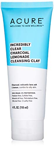 (Acure Incredibly Clear Charcoal Lemonade Cleansing Clay, 4 Ounce)