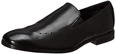 Ruosh Black Loafers Shoes For Men, 45 EU