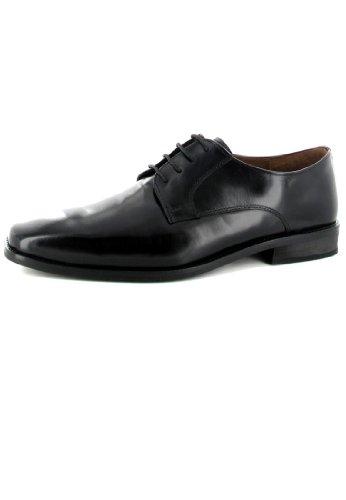 MANZ - Herren Business Schuhe - Schwarz Schuhe in Übergrößen