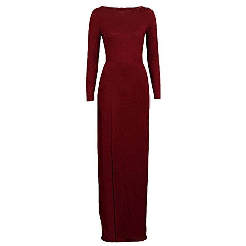 Qiyun 3008s0141–Robe pour femme -  rouge - Small