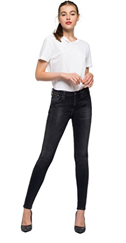 Replay Women's Zackie Straight Jeans Black (Black Denim 7)