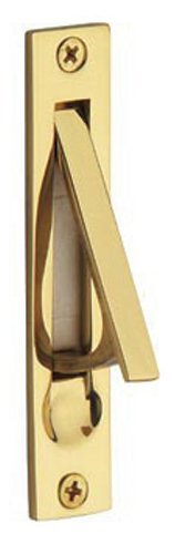 Baldwin 0465.003 Edge Pull, Lifetime Polished - Plate Brass Baldwin Pull