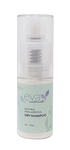 Eva Naturals Non-Aerosol Dry Shampoo (1oz) - Travel Size Hair Texture Spray Absorbs Oil, Adds Volume and Naturally Deodorizes - Includes Aloe, Vitamins C and B5 - Talc and Aluminum Free 1 Ounce Aerosol