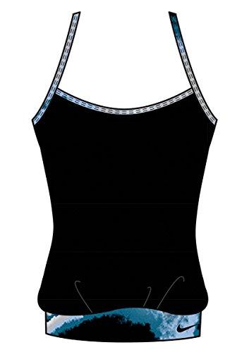 NIKE Women's Cascade Sport Tankini Top Black Small ()
