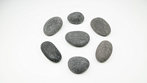 Painting Surfaces - BasaltCanvas Size 3 Painting Rocks -Kindness Rocks for Painting - Very Smooth Surface - Easy to Paint - 7 Stones Ranging from 4.5 to 5.0 inches