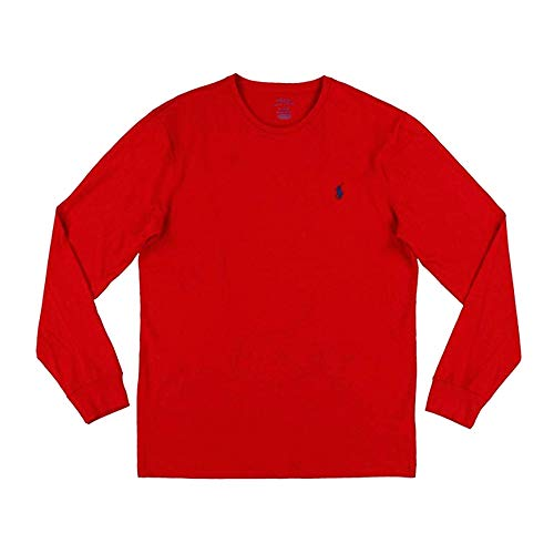 - Polo Ralph Lauren Men's Long Sleeve Crew Neck Pony Logo T-Shirt (XX-Large, Red)