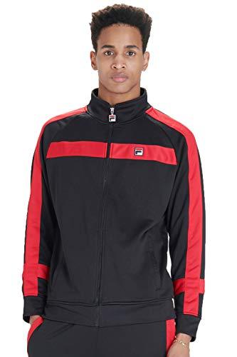 Fila Vintage Renzo Stripe Track Jacket | Black/Chinese Red Medium Black ()