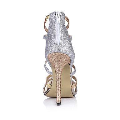 LvYuan Mujer-Tacón Stiletto-Confort-Sandalias-Boda Vestido Fiesta y Noche-Sintético-Oro Gold