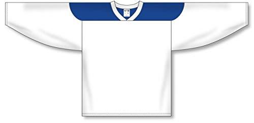 (Customization Depot White, Royal League Plain Blank Hockey Jerseys)