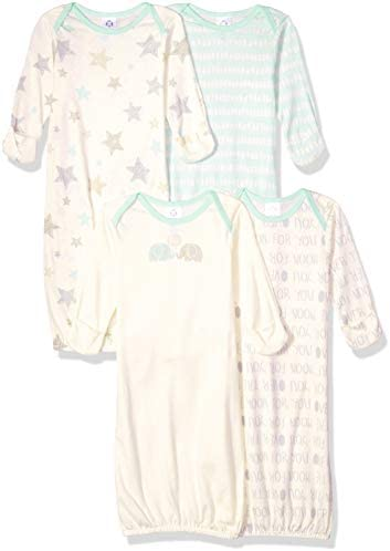 GERBER Baby Girls 4 Pack Gown product image