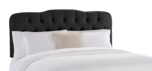 Skyline Furniture Surrey King Tufted Headboard, Black Velvet (Bed Metal Frames Custom)