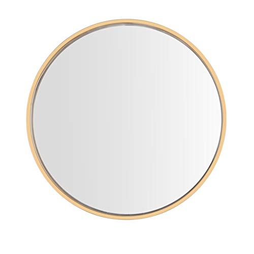 Round Anti-Fog Bathroom Mirror with Pre Drilled Holes & Chrome Cap Wall - Kit Fixing Bathroom Frameless Hanging Wall Mirrors