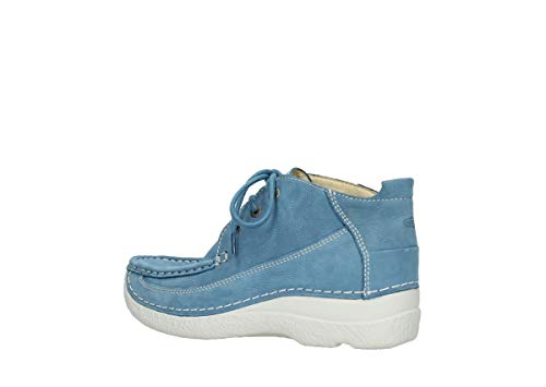 Moc Zapatos Lace Comodidad Baltic Nubuck Up Blue nbsp;rollo 11856 06200 Wolky wTBqYw