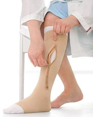 Jobst 114488 UlcerCare Zippered Unisex Open Toe Knee High Support Sock Size: X-Large, Leg: Left by Jobst